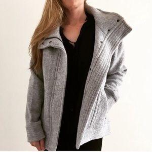 New Banana Republic Wool Grey Coat Size Small $198